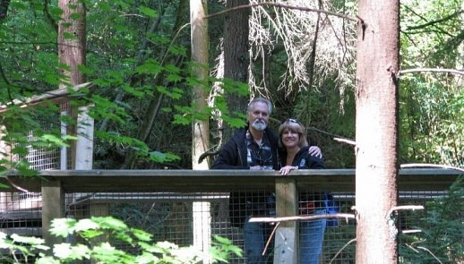 Sherri & John at Capilano Suspension bridge, Vancouver