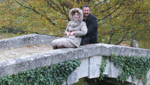 Debra and Robert Kirk at Petit Trianon at Versailles, France