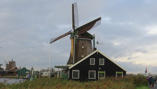 Windmill at Zaanse Schans Holland